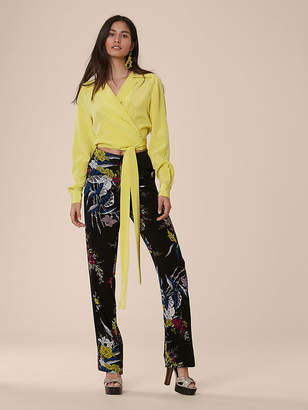 Diane von Furstenberg Taped Straight Leg Pants