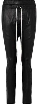 Bassike Leather Track Pants - Black