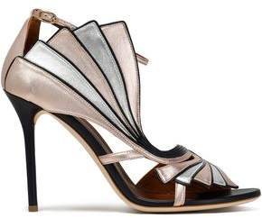 Malone Souliers Cutout Metallic Leather Sandals