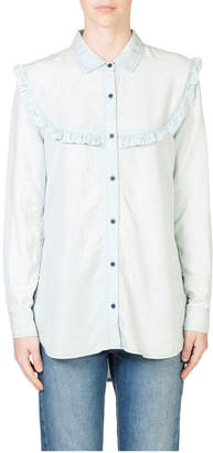Skin and Threads Frill Chambray Shirt