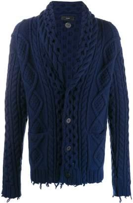 Alanui fisherman cable knit cardigan