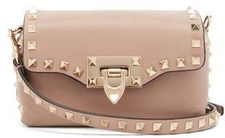 Valentino Rockstud Mini Leather Cross Body Bag - Womens - Nude