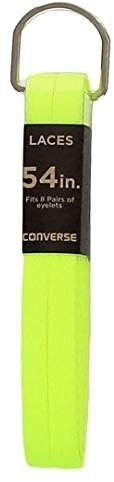 Converse Unisex Replacement Cord Shoe Laces Flat Style Shoelaces (Volt Yellow, 54)