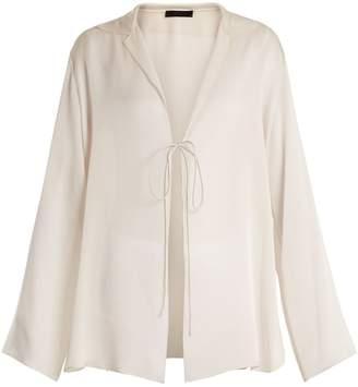 The Row Ritea sheer silk-georgette jacket