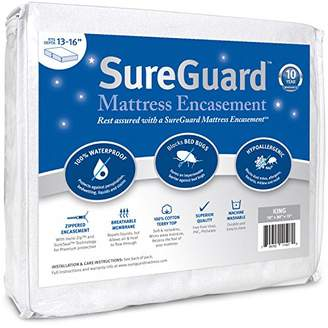 King (13-16 in. Deep) SureGuard Mattress Encasement - 100% Waterproof