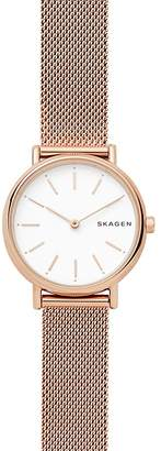 Skagen Signatur Rose Gold-Tone Slim Watch, 30mm