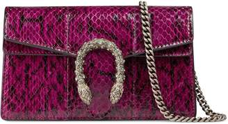Gucci Dionysus snakeskin super mini bag