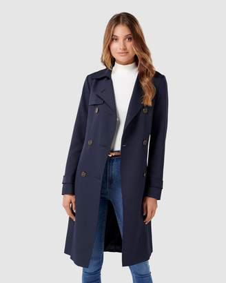 Forever New Juliana Long Textured Trench Coat