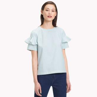 Tommy Hilfiger Short-Sleeve Ruffle Shirt