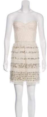 Brian Reyes Embellished Strapless Dress