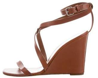 Hermes Leather Round-Toe Wedges