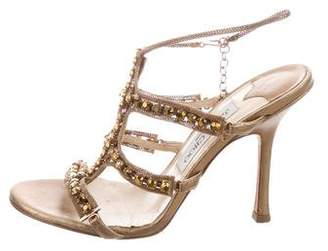 0e8f90a4d236a7 Pre-Owned at TheRealReal · Jimmy Choo Embellished Chain-Link Sandals