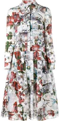Erdem floral printed shirt dress