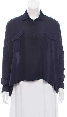 Rag & Bone Long Sleeve Silk Blouse