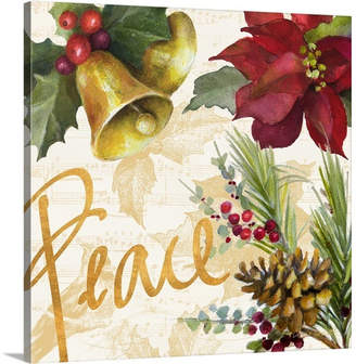 The Holiday Aisle 'Christmas Poinsettia II' Painting Print on Wrapped Canvas
