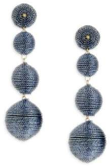 Kenneth Jay Lane Textured Ball Drop Earrings