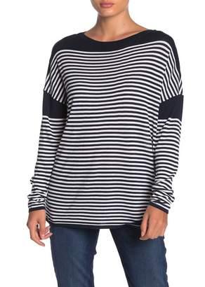 525 America Striped Boatneck Dolman Sleeve Sweater