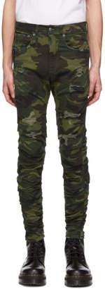 R 13 Green Skywalker Jeans