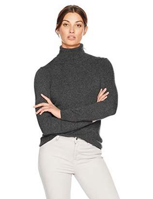 Lark & Ro Women's 100% Cashmere Turtleneck Pullover Sweater