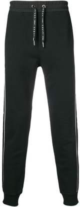 Les Hommes Urban contrast side stripe track pants