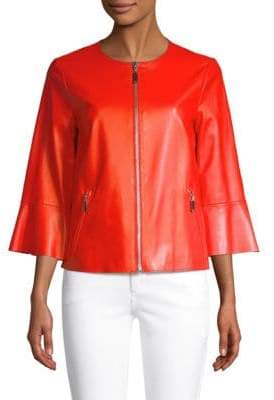 Escada Sport Levangelista Leather Bell-Sleeve Jacket