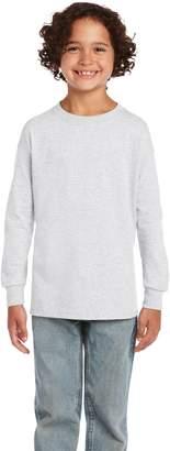 Gildan 2400B- Classic Fit Youth Long Sleeve T-Shirt Ultra Cotton - First Quality - Ash Grey