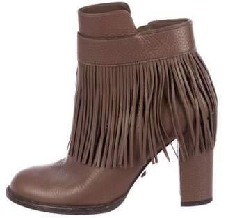 Valentino Fringe Leather Boots