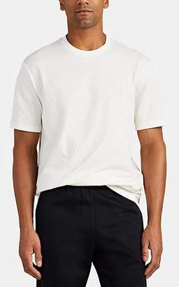 Giorgio Armani Men's Diamond-Pattern Cotton T-Shirt - White
