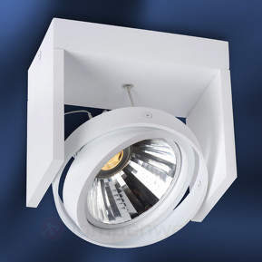 Weißer LED-Deckenspot Zett