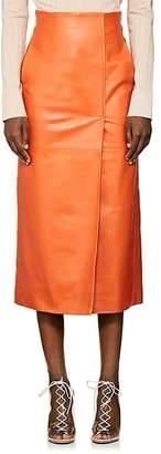 Lanvin Women's Leather Midi-Skirt