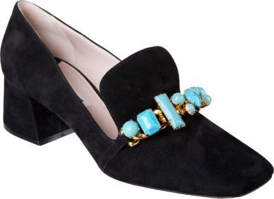 Miu Miu Jewel Embellished Loafer
