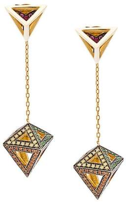 Noor Fares Octahedron earrings