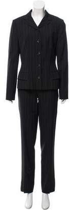 Dolce & Gabbana Pinstripe Straight-Leg Pantsuit