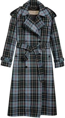 Burberry tartan trench coat