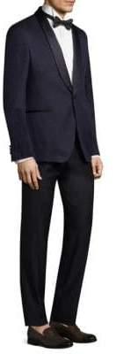 Salvatore Ferragamo Patterned Slim-Fit Wool Tuxedo