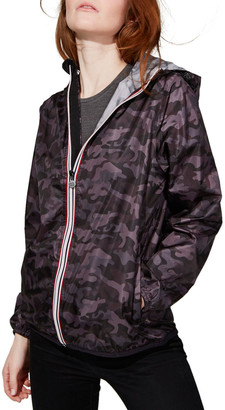 Sloane O8 Lifestyle Printed Full-Zip Packable Rain Jacket