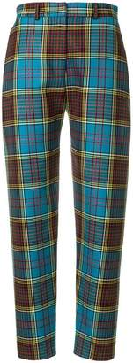 House of Holland tartan tailored trousers
