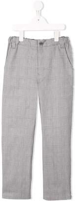 Familiar plaid tailored trousers