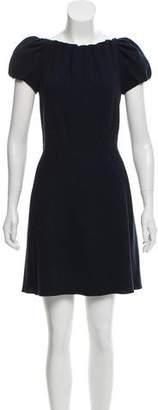 Nina Ricci Wool Mini Dress