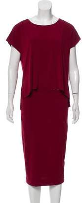 By Malene Birger Draped Midi Dress