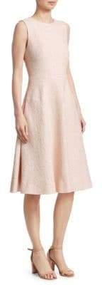 Lela Rose Women's Sleeveless Seamed A-Line Dress - Petal - Size 8