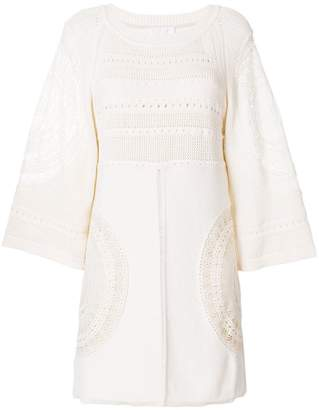 Chloé crochet shift dress