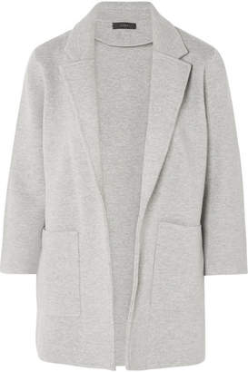 J.Crew Hannah Knitted Cotton-blend Blazer - Gray