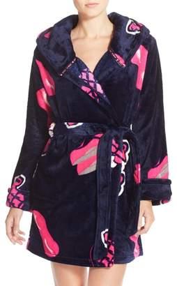 Betsey Johnson Print Plush Robe