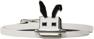 McQ Alexander McQueen White Electro Bunny Mini Wrap Bracelet $95 thestylecure.com