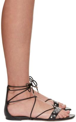 Alexander McQueen Black Studded Sandals