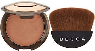 Becca Sunlit Bronzer & Halfmoon Brush