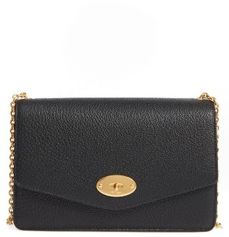 Mulberry Large Postman's Lock Calfskin Leather Crossbody Clutch - Black $865 thestylecure.com