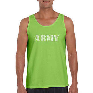 LOS ANGELES POP ART Los Angeles Pop Art Men's Lyrics to the Army SongTank Top