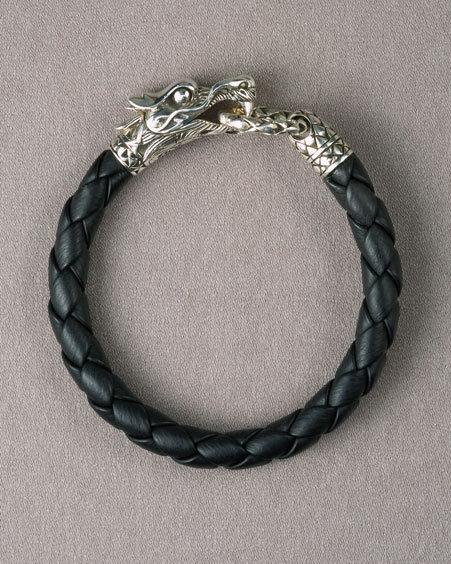 John Hardy Naga Dragon Leather Bracelet